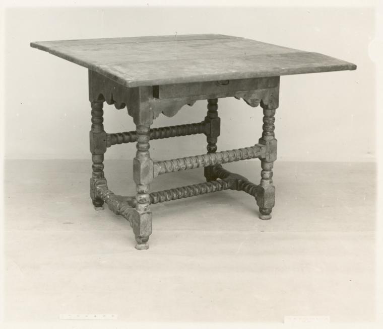 Turned table.