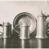 Communion service in pewter, about 1685.