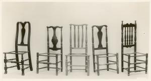 Early 18th century chairs.