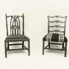 Chippendale type chairs.