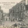 Zur Schlacht von Gorlice (Westgalizien) der untere Stadtteil nach der Erstürmung durch die Deutschen.