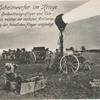 Der Scheinwerfer im Kriege. Links Beobachtungsoffizier und Telegraphist, welcher der nächsten Artilleriestellung den feindlichen Flieger ankündigt.