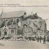 Westlicher Kriegsschauplatz. Die Kirche des von den Franzosen vollständig zerschossenen Ortes Brimont bei Reims.