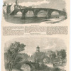 The TWA Brigs of Ayr - The Auld Brig of Doon, with Burns' monument and a glimpse of Aloway Kirk in the distance. [The Illustrated London News, Jan. 29, 1859, pg. 117]
