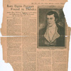 Newly discovered portrait of Robert Burns.  [The Sun and New York Herald, Sunday February 29, 1920]