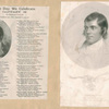 Robert Burns [2 portraits, one with his poetry. Second portrait engraved by H. Robinson.