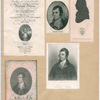 Robert Burns [5 portraits, include one from the title page from 'Poemes by Robert Burns', Caledonian, pg. 317 and a 'Profile and seal of Burns]