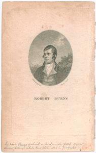 Robert Burns [frontispiece to his poems, 1787] / A. Nasmyth pinxt. ; I. Beugo sculpt.