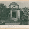 The tomb in which Robert Burns is buried, St. Michael's Churchyard, Dumfires. [The Caledonian]