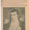 Rediscovered portrait of Burns by William anderson (1757-1837) [from Boston Evening, August 4, 1920]