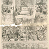 The Burns committee and members of the Caledionian clubs marching from the casino to the statue. Unveiling the statue to Robert Burns at Central Park. [The Daily Graphic, Oct. 5, 1880]