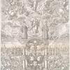 """Kartina, prilozhennaia k knige: """"Blagodat' i Istina"""" 1689 goda, s izobrazheniem Sof'i i Tsarei Petra i Ioanna"""