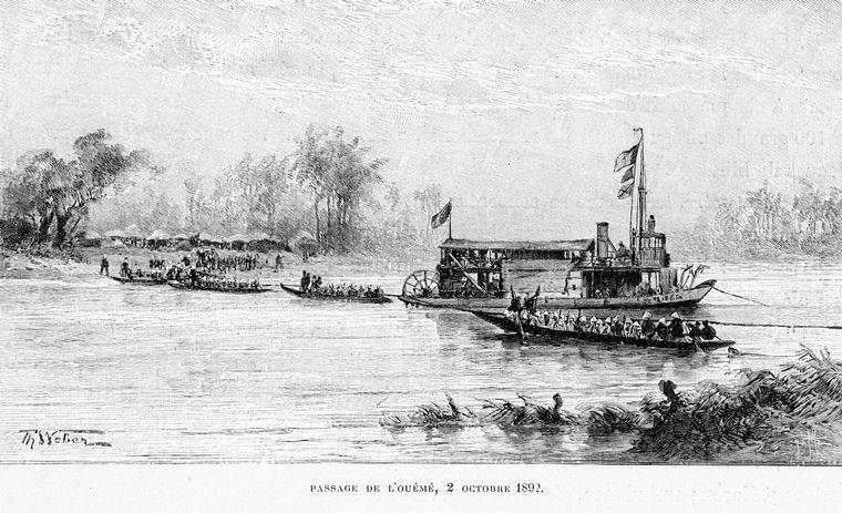 Passage de L' ouémé, 2 Octobre 1892.
