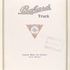Packard truck; Packard Motor Car Company, Detroit, Michigan [Title page].