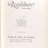 Rambler automobiles; Thomas B. Jeffrey & Company [Title page].