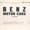 Benz motor cars, 1909; Benz & CIE; Rheinische Gasmotoren-Fabrik Aktiengesellschaft, Mannheim; Founded 1883 [Title page].