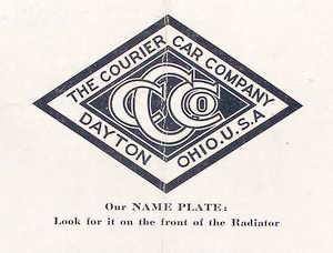 The Courier Car Company; Our name plate, look for it on the front of radiator.