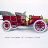 "Moline 1909 Model ""K"" Touring car, $ 2500 ; Specifications of Model ""K""."