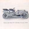 "Moline 1909 Model ""K"" with baby tonneau, $ 2500."