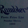 Rambler; Parts price list; Number eleven, 1909 [Front cover].