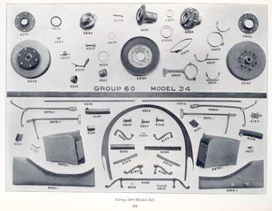 Rambler group 59 - Models 34 and 34A; [Model 34A body group; Models 34 and 34A, wheel group].