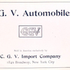 C. G. V. automobiles sold in America exclusively by C. G. V. Import Company [Title page].