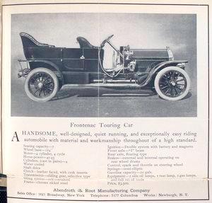 Frontenac Touring car.