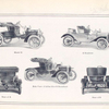 [Ford automobiles]; Model N; S Roadster; Rear of R, Side view of either S or R Runabout, Rear of S.