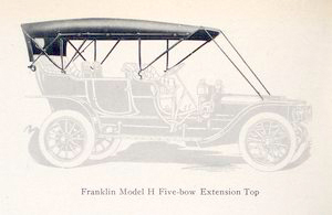 Franklin Model H five-bow extension top.