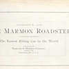The Marmon Roadster; Catalogue No. 830-B; Nordyke & Marmon Company, Indianapolis, Ind., U.S.A. [Title page].