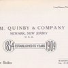 J. M. Quinby & Company, Newark, New Jersey, U.S.A.; Builders of aluminum automobile bodies [Title page].