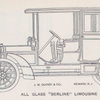"""J. M. Quinby & Co.; All glass """"Berline"""" Limousine."""