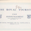 "The Royal Tourist 1909 announcement with a description of the new Model ""M"" [Title Page]."
