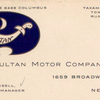 Sultan Motor Company; [A business card].
