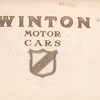 "Winton motor cars; ""Six"" - [cylinder car]; [Front cover]."