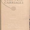 Electric carriages, 1909 [Front cover].