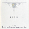 Electric carriages, 1909; The Rauch & Lang Carriage Co., Cleveland, Ohio [Title page].