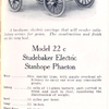 Model 22 c; Studebaker electric Stanhope phaeton.