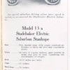Model 13 a; Studebaker electric suburban Stanhope.