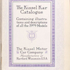 The Kissel Kar catalogue, containing illustrations and descriptions of all the 1909 Models [Title page].