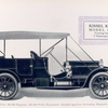 Kissel Kar Model G-9; Touring car; 7 passenger; Price: $ 3,000 regular - $ 3,200 fully equipped - double ignition including magneto.