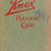 1909 Knox pleasure cars [Front cover].