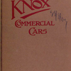 1909 Knox commercial cars [Front cover].