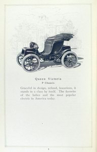 Baker electric vehicles; Queen Victoria; P chassis.