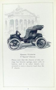 "Baker electric vehicles; Queen Victoria; P ""Special"" chassis."