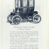 "Baker electric vehicles; Extension Front Coupé; P ""Special chassis."