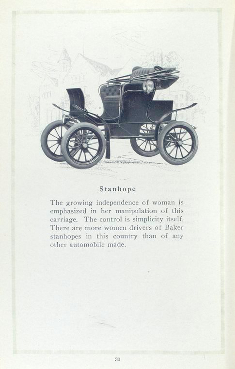 Baker electric vehicles; Stanhope.