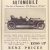 The Benz automobile; [Prince Henry Runabout].