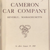 List of parts; Cameron air cooled, four cylinder models only [Front cover].