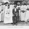 A fashionable wedding in Kamerun